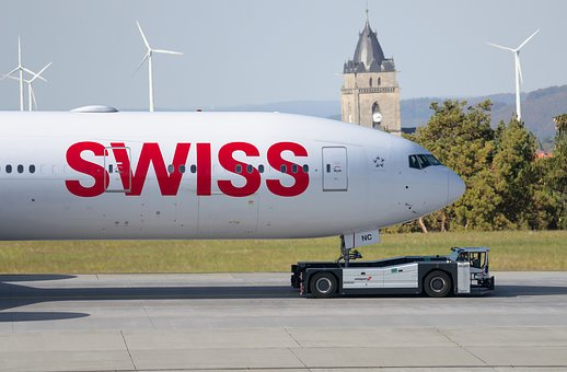 Swiss Air, Airport, Drag, Tarmac, Aircraft, Aviation
