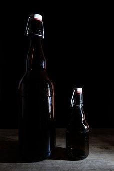 Bottle, Beer Bottle, Drink, Ironing, Iron Lock