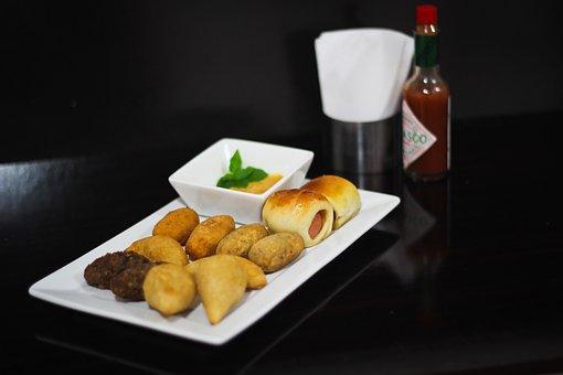 Salted, Party, Coxinha, Kebab, Esfiha, Food, Meals
