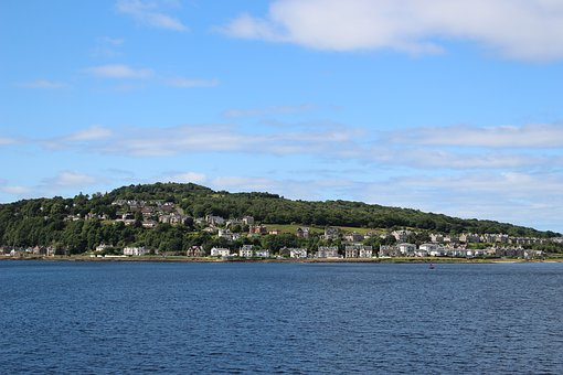 Island, Sea, Ocean, Isle Of Bute, Scotland, Water, Sky