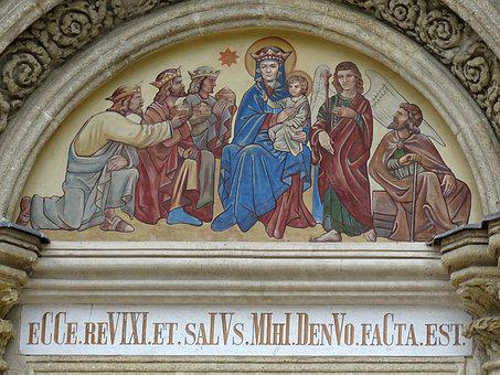 Lébény, Church, Kronogramma, Facade, Romanesque
