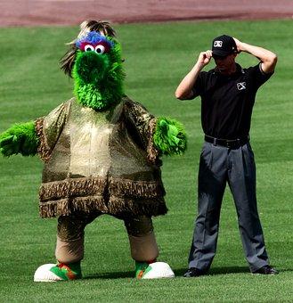 Phillie Phanatic, Mascot, Phillies, Umpire, Baseball