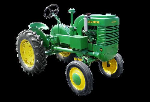 Isolated, Tractors, John Deere, Tractor, Model 1944