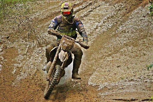 Mud, Motocross, Enduro, Dirtbike, Action, Motorsport
