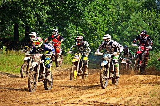 Motorcycle, Sport, Motocross, Start, Field, Race