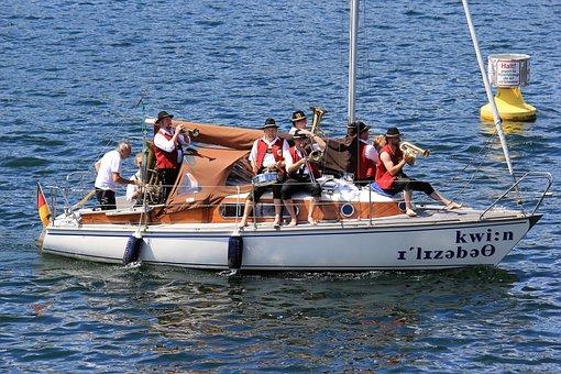 Chapel, Edersee, Music, Sailing Boat, Bathtub Race