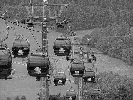 Cable Car, Willingen, Mountain, Nature, Outlook