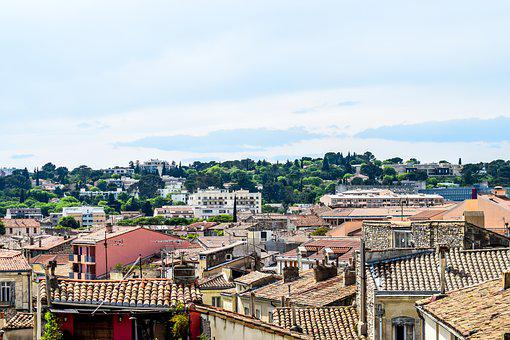 Nimes, Roofing, Roof, Tile, Red Roof, Midday, South
