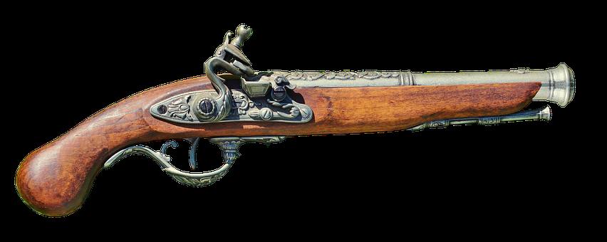 Pistol, Muzzleloader, Weapon, Old, Dangerous