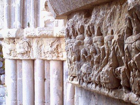 Capital, Romanesque, Art, Palencia, Stone