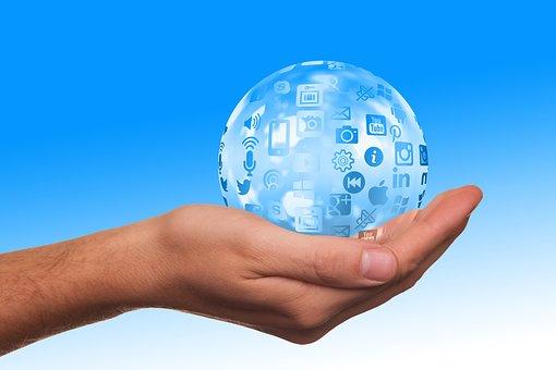 Social Media, Icon, Hand, Keep, Present, Presentation