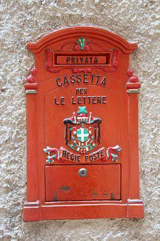 Mailbox, Italy, Post, Box, Letters, Sheet, Red, Send