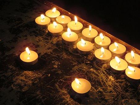 Candles, Church, Lights, Victims, Offertory Box, Light