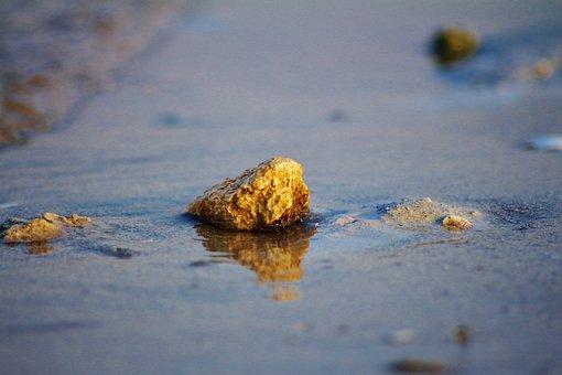 Stone, Jubail, Cornich, Water, Sand, Saudi, Arab