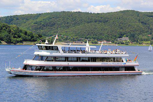 Edersee, Star Of Waldeck, Shipping, Water, Germany