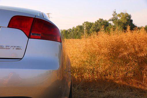 Car, Audi, Field, The Sky, Slovakia, Nature, Wheat