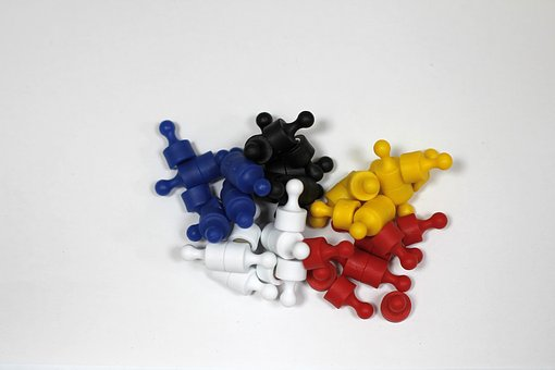 Magnets, Colorful, Black, Blue, Yellow, Red, White