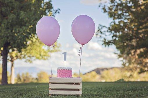 Birthday, Happy Birthday, Cake, Cake Smash, Balloon