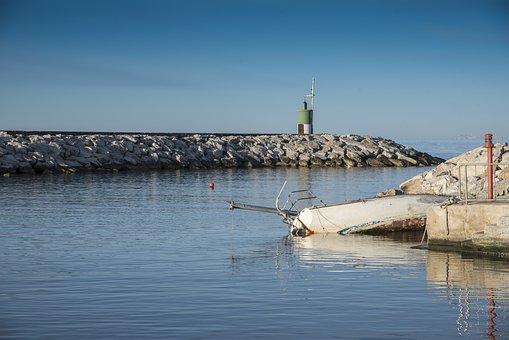 Port, Boat, Fishing Boat, Shipwreck, Catastrophe, Storm