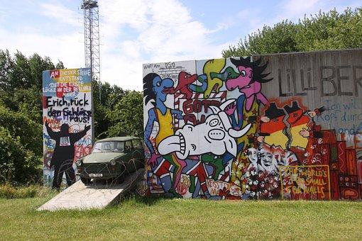 Berlin, Wall, Museum, Langeland, Denmark, Grafitti
