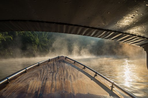 River Kwai, Vietnam, Boat Trip, Fog, Morning, Holiday