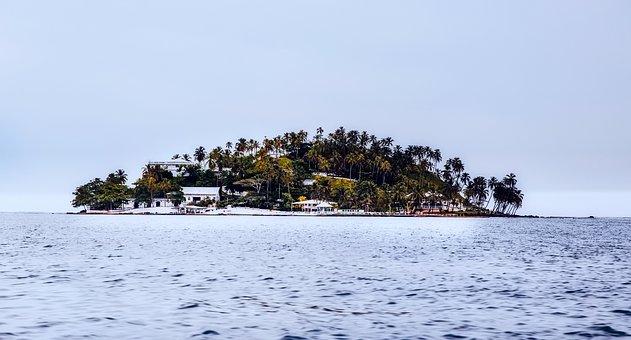 Island, Panama, Sea, Ocean, Palm Trees, Tropics