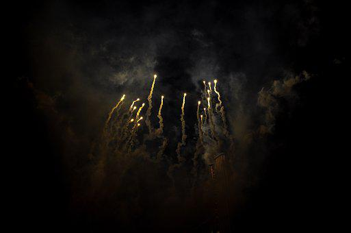Fireworks, Night, Sky, Lights, Entertainment, Smoke