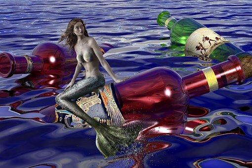 Mermaid, Water, Water Creature, Mystical, Nature