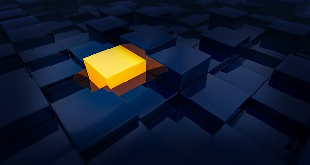 Background, Cubes, Choice, One, Blue, Yellow, Orange