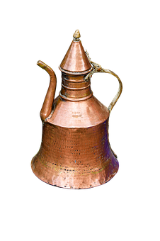Drink, Pot, Teapot, Old, Isolated, Copper Jug, Vessel