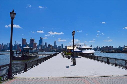 Port, Harbor, Nyc, Ship, River, Water, Manhattan, New
