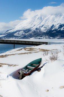 Yukon, Snow, Boat, Outdoors, Nature, Canada, Alaska