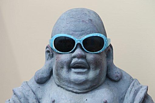 Figure, Buddha, Sunglasses, Buddha Figure, Fun, Laugh