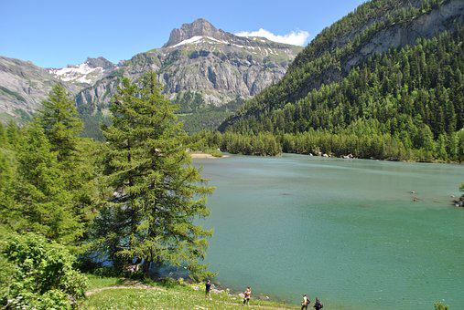 Summer, Valais, Hiking, Switzerland, Lake, Nature