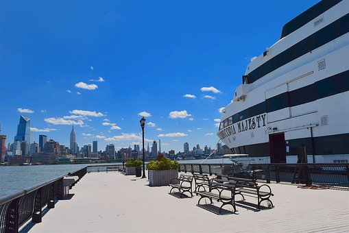 Port, Ship, Cruise, Harbor, Nyc, River, Water