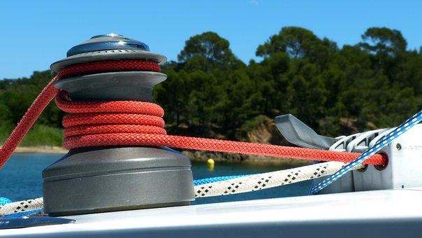 Sailboat, Winch, Pulley, Deck Fittings, Rope