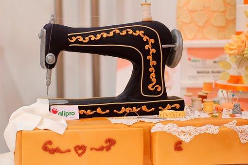 Sewing Machine, Pie Art, Marzipan, Decor, Sew, Art