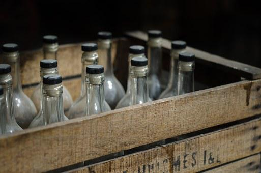 Crate, Beer, Vintage, Antique, Alcohol, Bootlegging