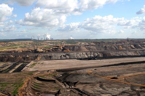 Brown Coal Mining, Open Pit Mining, Coal Mining, Quarry