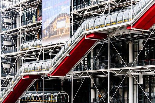 Paris, Architecture, France, Center Pompidou, Building