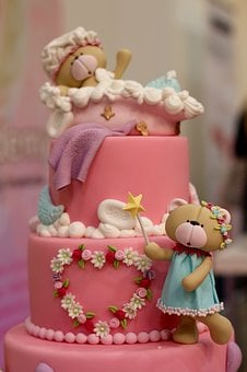 Children's Birthday, Cake, Marzipan, Birthday Cake