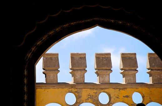 Battlements, Portugal, Sintra, Castle, Fortress