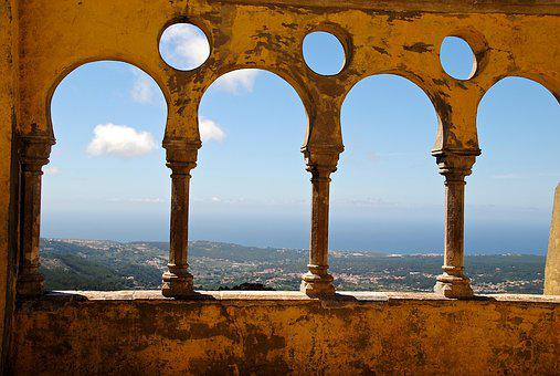 Terrace, Portugal, Sintra, Castle, Fortress, Holiday