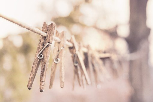 Pegs, Clothes Line, Clothesline, Clothespins
