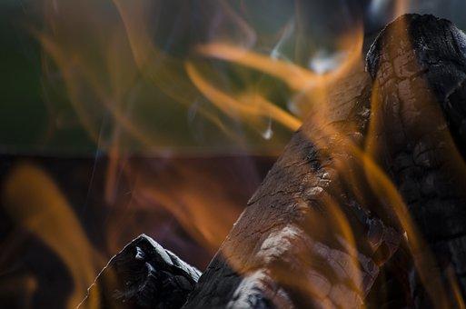 Fire, Coal, Smoke, Charcoal, Red, Hot, Fireplace