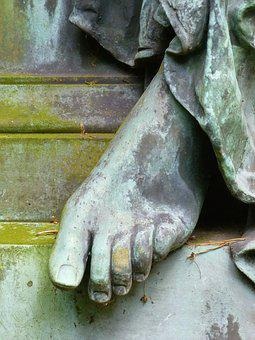 Foot, Toes Female, Statue, Stone, Bronze, Fig, Human