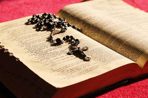 Bible, Rosary, Prayer, Pray, Holy, Christianity, Book