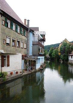 Horb Am Neckar, Horb, Neckar, Reflection, River