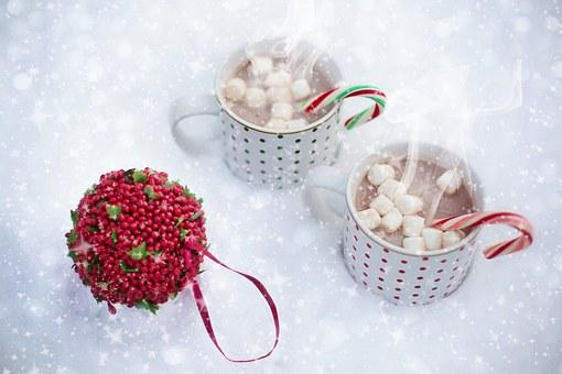 Hot Chocolate, Snow, Scarf, Christmas, Hot, Drink