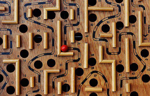 Labyrinth, Wood, Play, Ball, Red, Fun, Puzzle, Toys